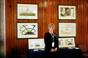 Marsha Mills with Paintings