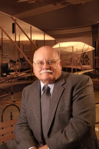 Nasm Aero curator Tom Crouch portrait inside the Wright Brothers Gallery, National Air and Space Museum