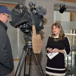 Amanda Wright Lane is interviewed by UNCN TV.