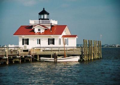 Roanoke Marshes Lighthouse on Roanoke Island