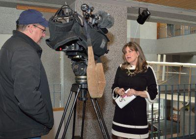 Amanda Wright Lane is interviewed by UNCN TV.