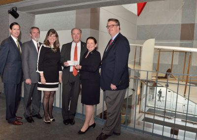 First Flight Foundation meeting and check presentation for the 1911 reproduction Wright Brothers glider in the Museum lobby, March 20, 2014.