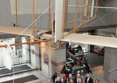 1911 Reproduction Wright Glider in lobby of the NC Museum of History.